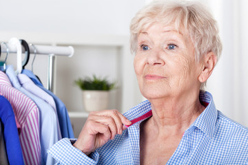 Senior lady wearing shirt
