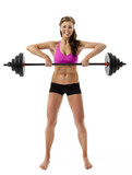 Pretty Woman Lifting Barbell