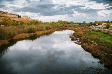 Agueda River in Ciudad Rodrigo