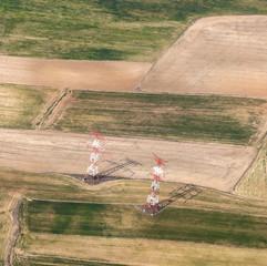 electrical pylon in rural area