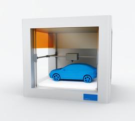3d printer, printing car