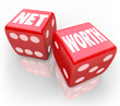 Net Worth Two Dice Total Financial Wealth Value Accounting Risk