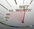 Net Worth Speedometer Rising Increasing Total Wealth Money