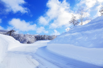 冬の草津志賀道路
