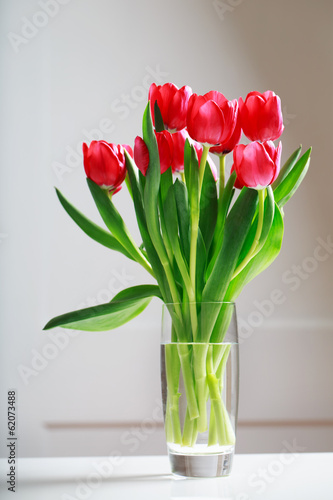 Deurstickers Tulp Red tulips