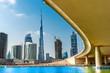 Leinwanddruck Bild - Dubai skyline with Burj Khalifa. UAE.