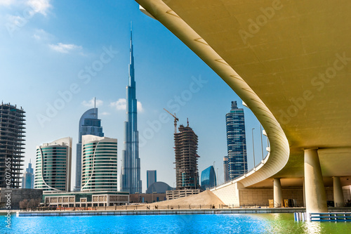 Dubai skyline with Burj Khalifa. UAE.