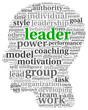 Leader concept in word tag cloud