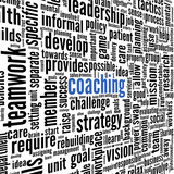 Coaching concept in tag cloud isolated on white