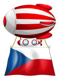 The flag of Czech Republic and the floating balloon