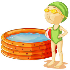 A young swimmer
