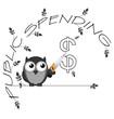 Monochrome public spending cuts dollar