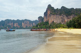 Railay beach in Krabi at morning