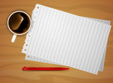 Notepaper on desk