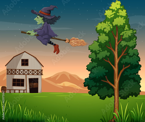 A witch at the farm