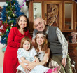 happy family at home in Christmas