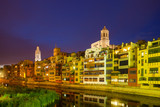 Evening view of of Girona. Catalonia