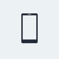 Smartphone Flat Icon with shadow. Vector EPS 10.