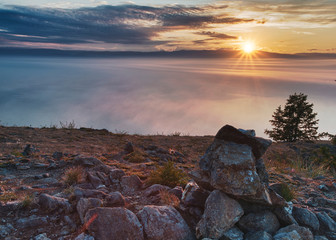Olkhon Island is the largest island of Lake Baikal