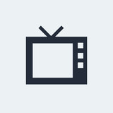 TV Flat Icon with shadow. Vector EPS 10.