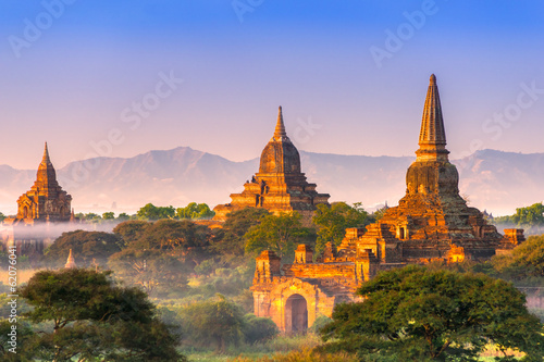 Poster Bagan at Sunset, Myanmar.