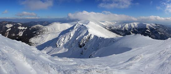 Winter Slovakia mountain - Low Tatras from Chopok