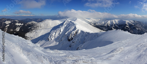 Winter Slovakia mountain - Low Tatras from Chopok