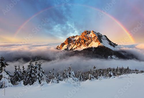 Mountain peak at winter, Slovakia mountain Fatra