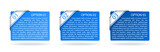 vector blue paper option labels
