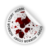vector horror story bent sticker