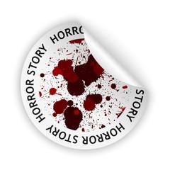 vector horror story bent sticker