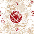 Vector seamless background with beige circles