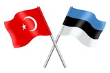 Flags: Turkey and Estonia