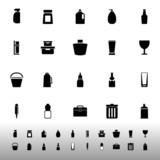 Design package icons on white background