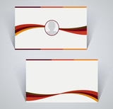 Business card, simple template with stripes