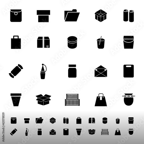 Package icons on white background