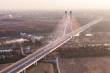 aerial view of Wroclaw redzin bridge