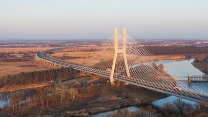 aerial view of Wroclaw redzin bridge