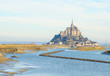 Mont Saint Michel over sea , France
