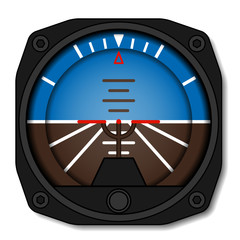 vector airplane attitude indicator - artificial horizon