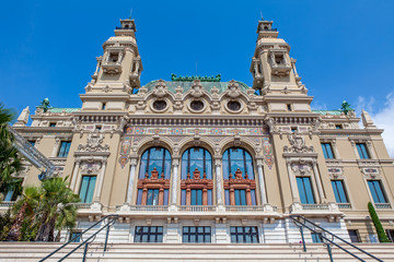 Facade of Sale Garnier in Monte Carlo, Monaco.