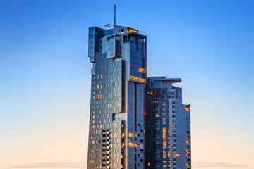 Sea Towers skyscraper in Gdynia, Poland