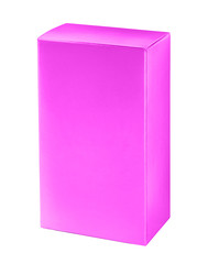 Light purple cosmetic packaging box