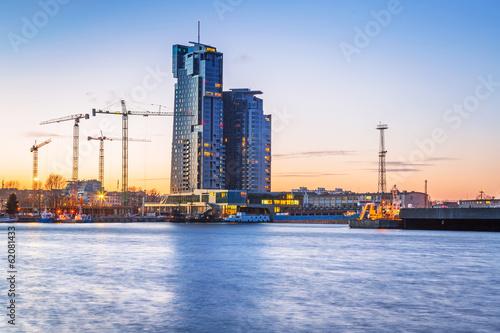 Fototapety, obrazy : Sea Towers skyscraper in Gdynia, Poland