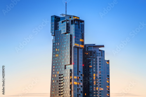 Sea Towers skyscraper in Gdynia, Poland