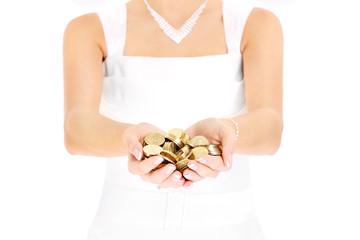 Bride and money