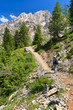 Dolomiti - hiker in Contrin Valley