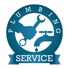 symbol plumbing service for vector silhouette