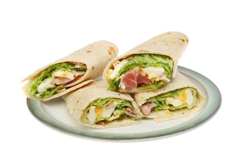 Wraps on a plate