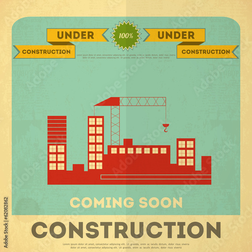 under construction poster design